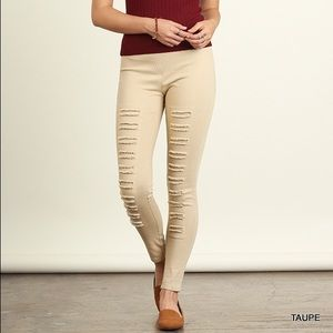 Cloud 9 Jackets & Blazers - Style Trend ~ Taupe Distressed Jeggings NEW