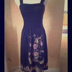 👉 Missoni 👈 black and floral cocktail dress 💃
