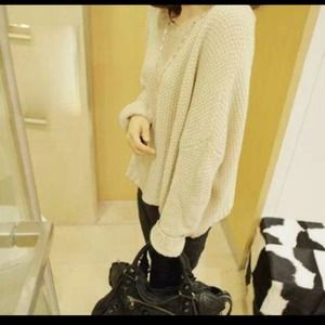 Gorgeous Beige Batwing Sweater