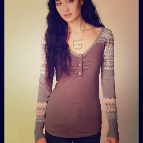 68% off Free People Tops - Free people cabin fever fair isle ...