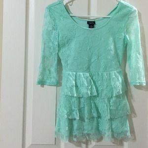 Rue 21 Tops - Sea foam green lace tiered top.