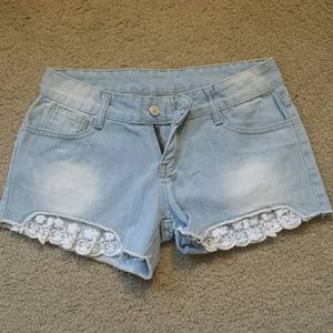 Brand New Shorts with Crochet Detailing