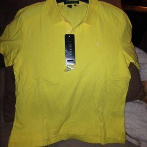 Yellow Lauren Ralph Lauren polo short sleeve shirt