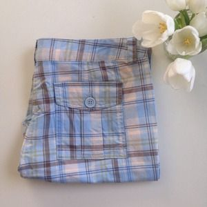 Tracy Evans plaid shorts perfect for work or play