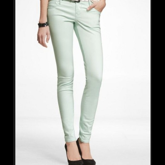 80% off Express Pants - Mint green Express skinny jeans/pants ...