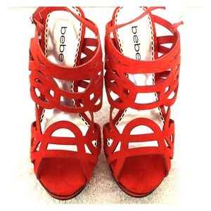 BEBE brand new red shoes