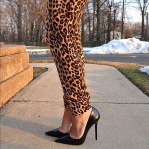 Pants - Leopard print pants