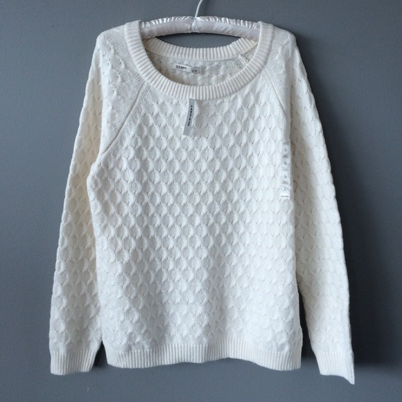 46% off Old Navy Sweaters - Old Navy Cream Cable Knit Sweater from ...