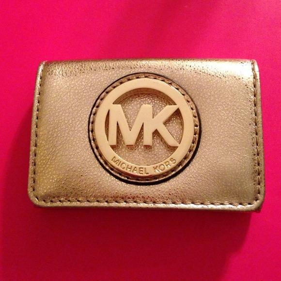 57 off michael michael kors accessories gold michael kors business gold michael kors business card holder colourmoves