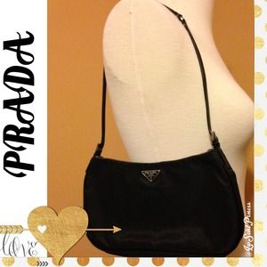 94% off Prada Handbags - PRADA Black Leather and Silk Handbag from ...