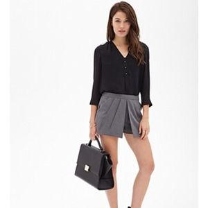 Forever 21 pleated split-front skort