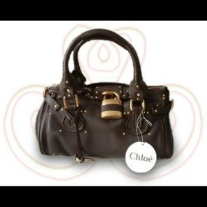 STUNNING Chloe Paddington Satchel in Tobacco/Gold