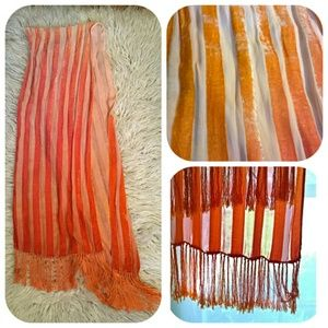 HP 9/22: Hand dyed silk devore scarf