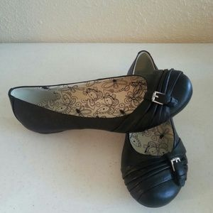 Appeal Shoes - Black Appeal Flats Ballerina Twist Buckle