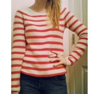 An old navy striped sweater.
