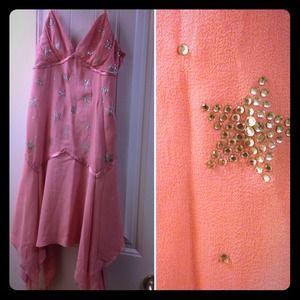 Betsy Johnson Silk Evening dress w/ star crystals