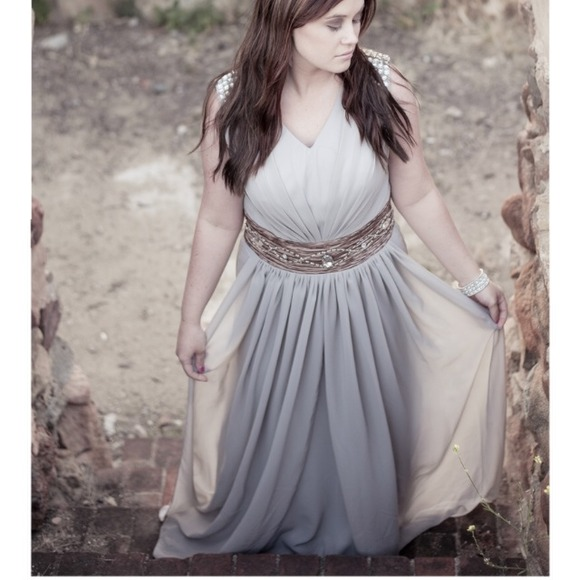 Dresses Grey Greek Formal Floor Length Dress Poshmark