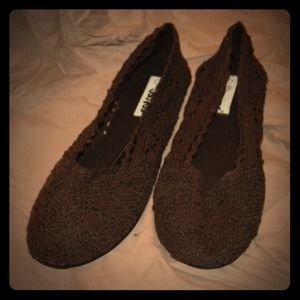 ositos Shoes - Brown mesh/lace shoes