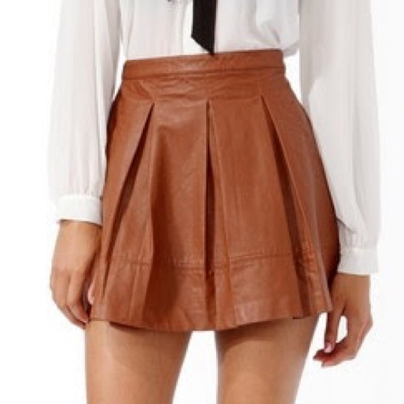 fd4c1cff6 Forever 21 Skirts | Cute Faux Leather Skirt From | Poshmark