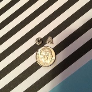 "Living Locket ""C"" & ""A"" Charms Silver & Pave"