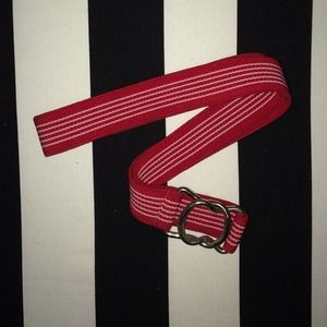 Accessories - Red and White Striped Belt