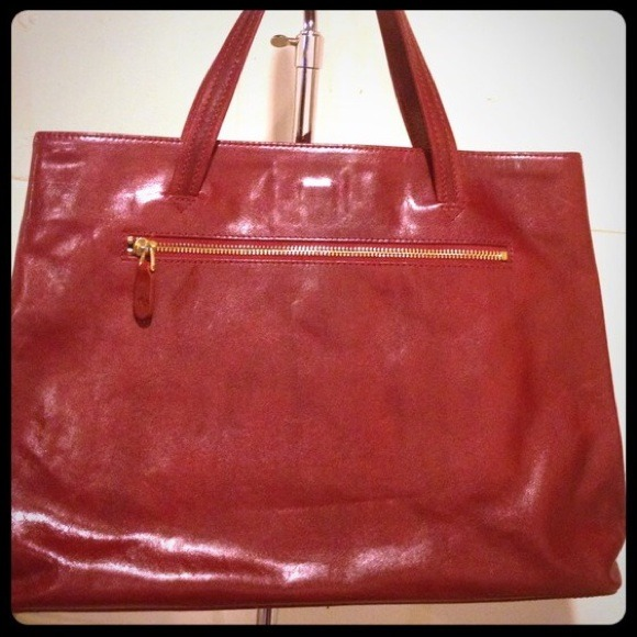 75% off monsac Handbags - Monsac Deep Red Leather Purse from ...