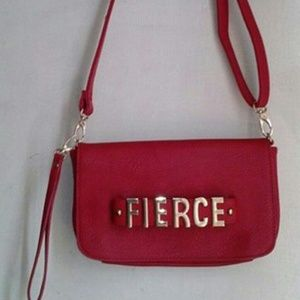 Just fab fierce red hand bag