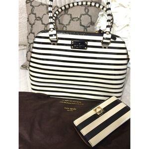 kate spade Handbags - Kate Spade Wellesley Patent Stripe Tote