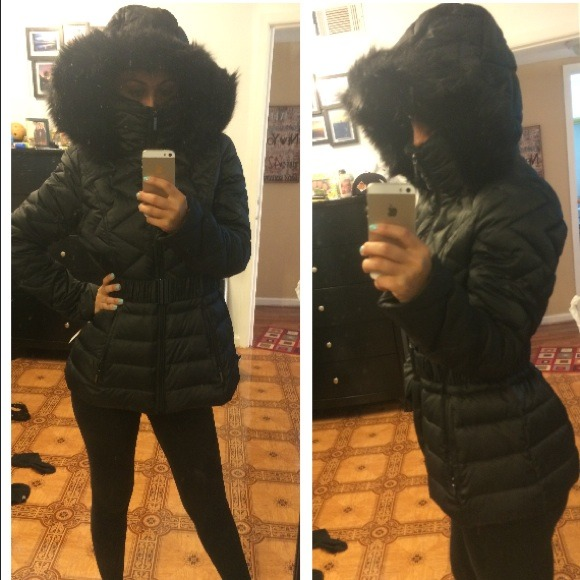 0713a73e66f4 laundry Jackets & Coats | Reserved Black Winter Coat With Fur Hood ...