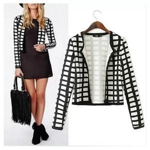  HOST PICK  Asos black & white blazer