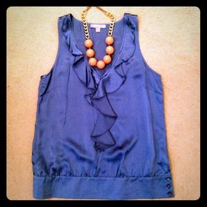 Forever 21 Tops - F21 Silk Blue Top