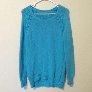 Sweaters - Bright Sky Blue Fall Sweater