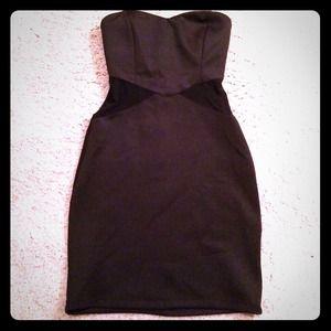Cute tight black tube dress