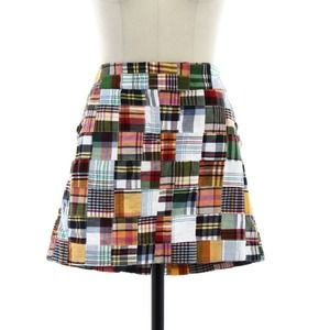 J. Crew Plaid Mini Skirt