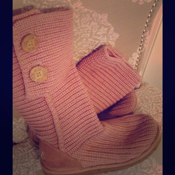 Ugg Shoes Super Cute Pink S With Buttons Poshmark