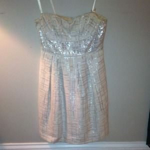 BCBG Metallic Dress - perfect for the holidays