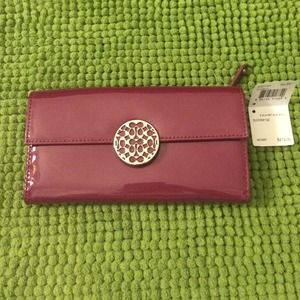 COACH Alexandria Berry Leather Slim Wallet