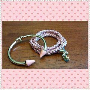 Jewelry - Pink bracelet stack NWT