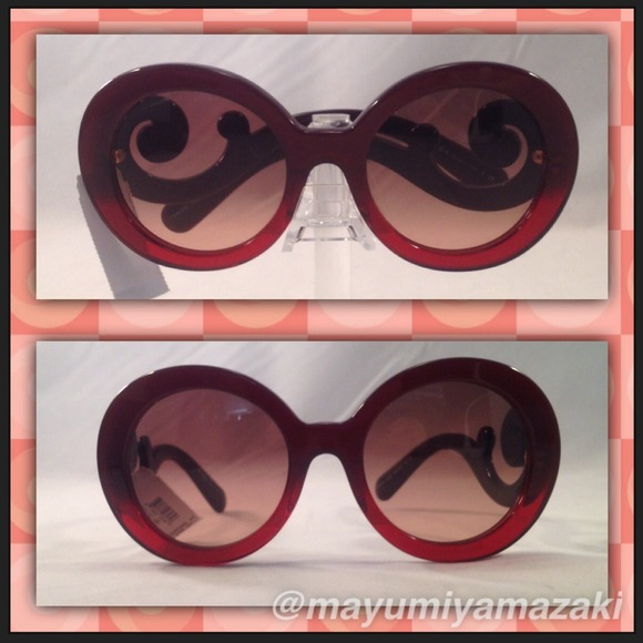 b9059f71f4 💯Authentic! Prada Maroon Red Baroque Sunglasses