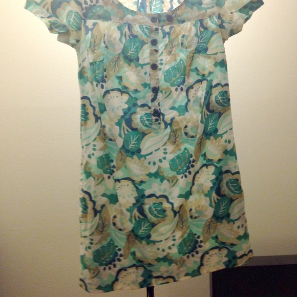 H&M Dresses - H&M blue white floral dress