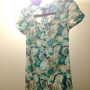 H&M Dresses - H&M blue white floral dress