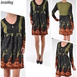 ARYEH Dresses & Skirts - ARYEH BORDER PRINT CROCHET DRESS
