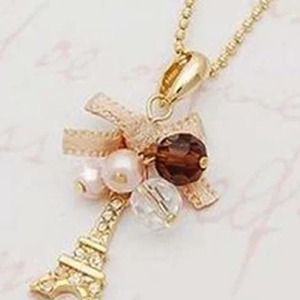 Eiffel Tower charms pendant gold plated