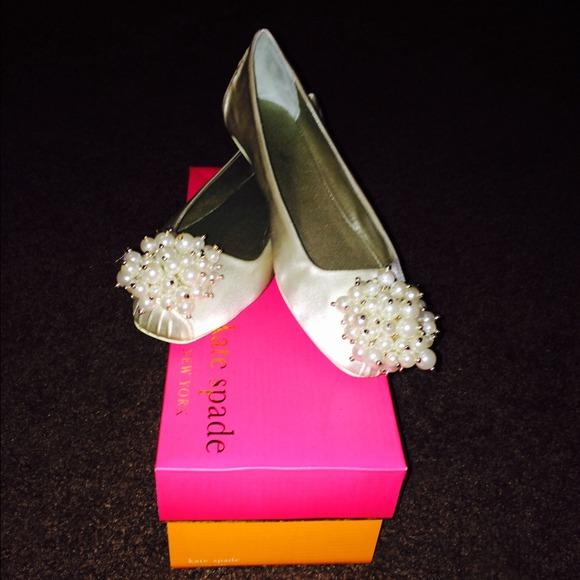 Kate Spade Shoes Ivory Fanna Wedding Slippers Poshmark