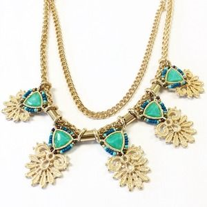 Statement necklace turquoise