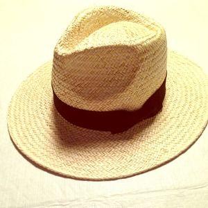 Large brim fedora hat
