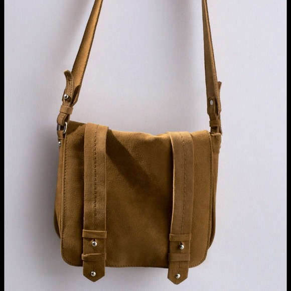 10% off Zara Handbags - ZARA NWT Leather and Suede Messenger Bag ...