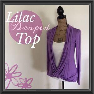 Tops - Lilac Crisscross Drape Top