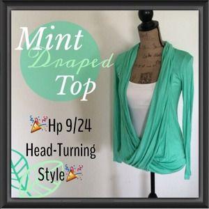 Tops - Mint Crisscross Top