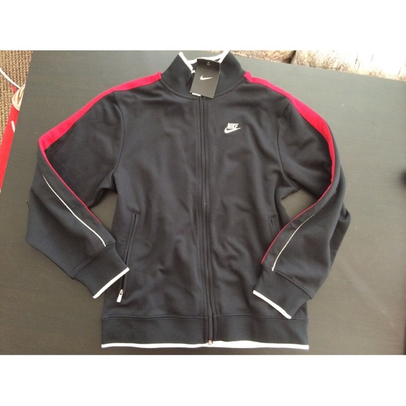 Nike Track Jacket   Black Red White b13c461e0